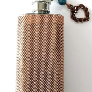 Flask 2.5oz Covered in Copper Mesh